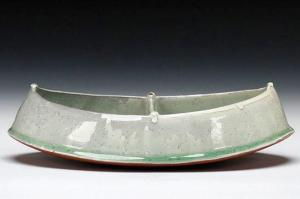 "Divided Dish, 9"" x 5"" x 2"", cone 5 oxidation, 2012"