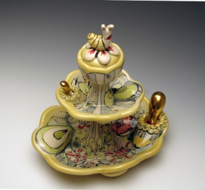 Garden Treat Server with Snail, 2012