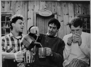 Michael (l), Mark Shapiro, Sam Taylor. Worthington, MA ca1990