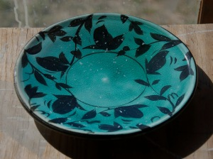 turquoise plate