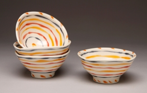 Jaeger striped bowls