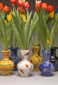 Jaeger tulip vases