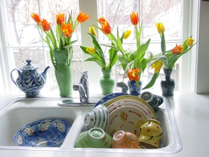 kitchen sink postcard