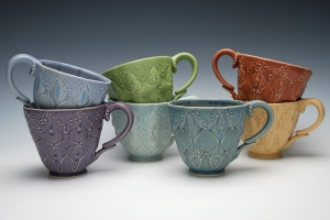 Kristen Kieffer Stamped cups grouping