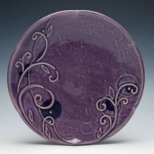 Kristen Kieffer Violet indigo medium sandwich plate