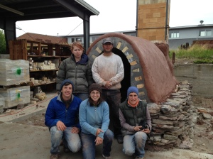 Kiln Built at Archie Bray Foundation with past apprentices of Mill Creek Pottery, 2012.