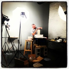 on the set at Ceramic Arts Daily