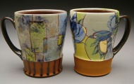 mugs, earthenware, decals, luster 2003