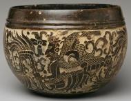 6th C Maya carved bowl