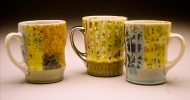 cups 2003, porcelain, decals, luster