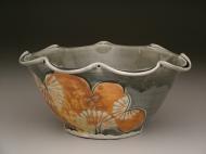 serving bowl 2007, salt-fired porcelain, decals