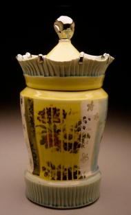 jar 2003, porcelain, decals, luster