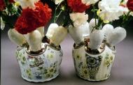 vases 2003, porcelain, luster, decals