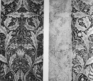 william morris tile design and drawing 1876