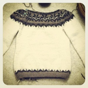 Icelandic Sweater in Progress