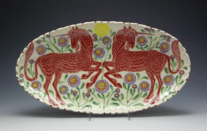 Red Unicorns Platter