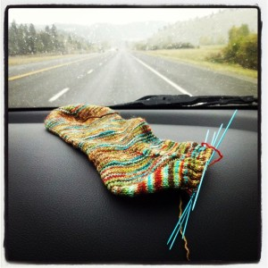 Roadtrip knitting