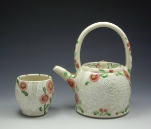 White Rabbit Teapot and Cup